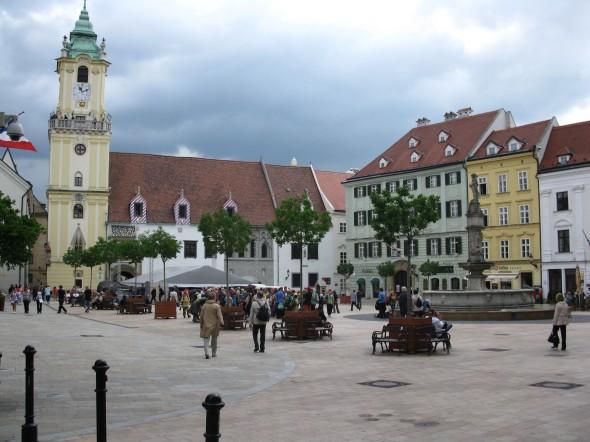 Piazza principale centro storico Bratislava