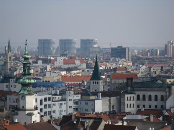 Panorami castello Bratislava